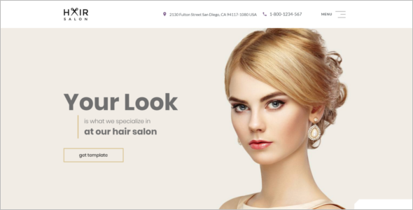 Multipage Hair Salon Website Template