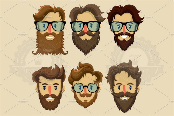Multiple Hipster Character Design