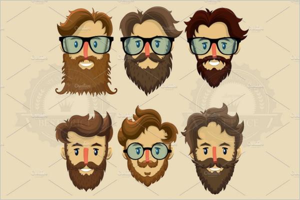 Multiple Hipster Character Design