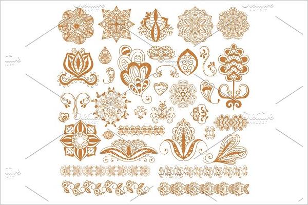 Multiple Tattoo Flower Design