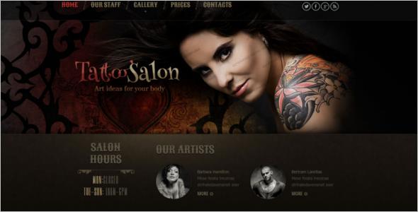 Multipurpose SalonWebsite Template