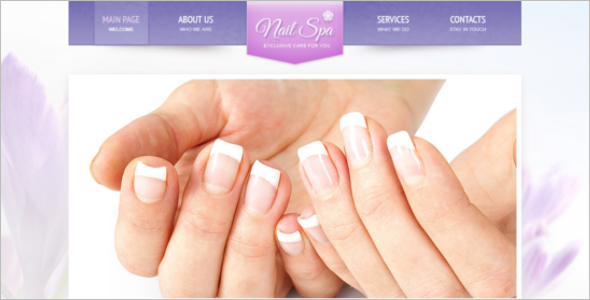 Nail Art Salon Website Template