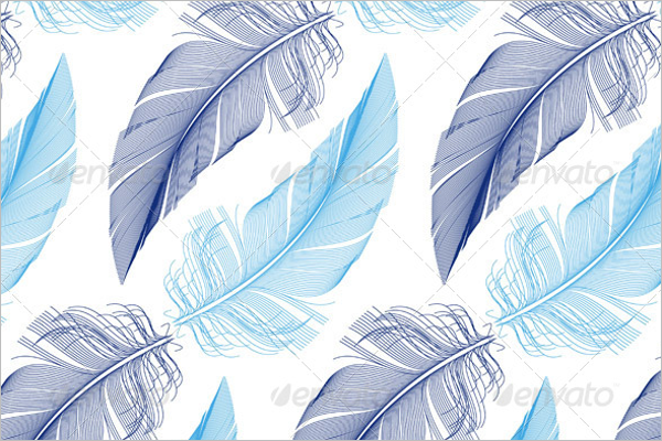 Natural Feather Seamless Pattern