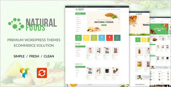 Natural Food Store WordPress Theme
