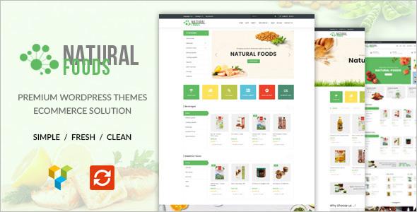 Natural Food Store WordPress Theme