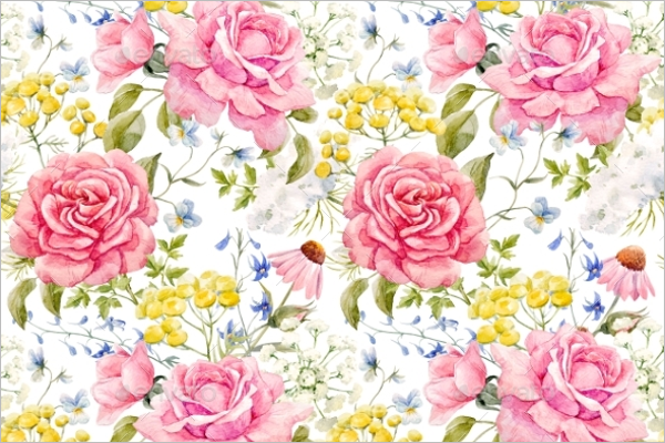 Natural Rose Seamless Pattern