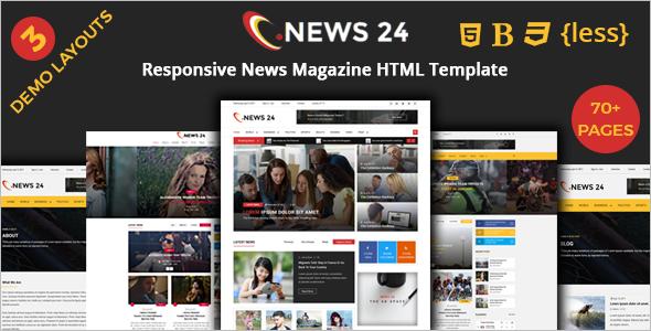 News Magazine HTML Template