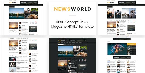 News Portal HTML5 Template