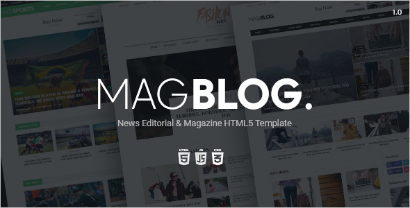 News Website HTML5 Template