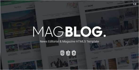News Website HTML5 Template