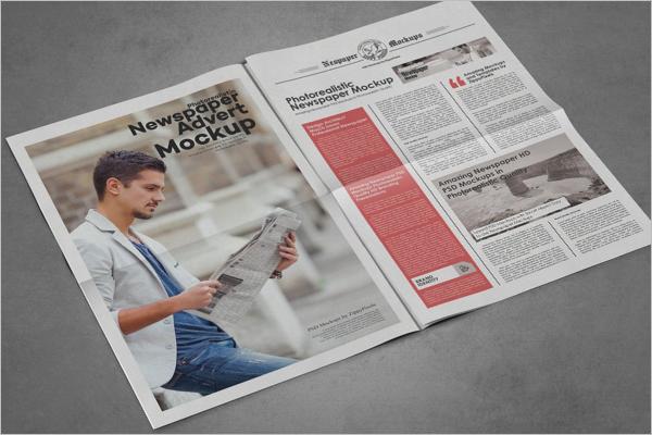 Newspaper Advertising Mockup Bundle