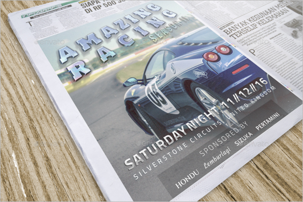 Newspaper Advertising Mockup Template