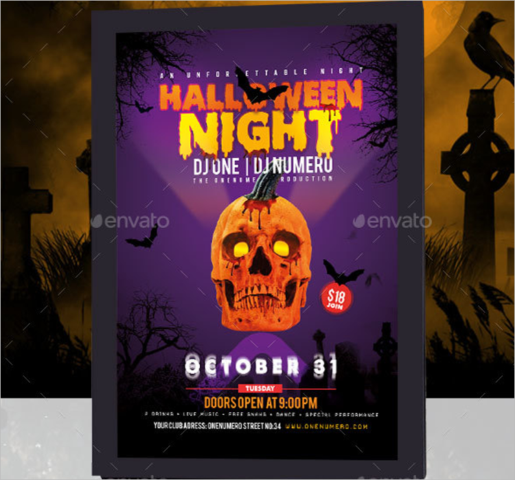 No Thanks Halloween Poster Template