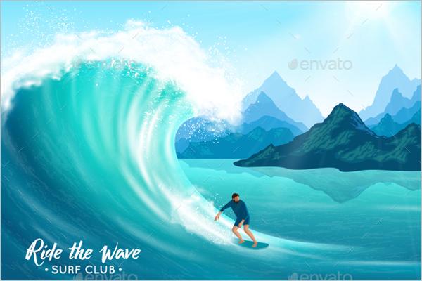 Ocean Wave Illustration Design