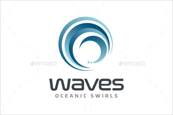 Ocean Wave Logo Design
