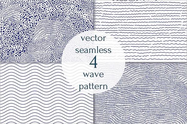 Ocean Wave Vector Background