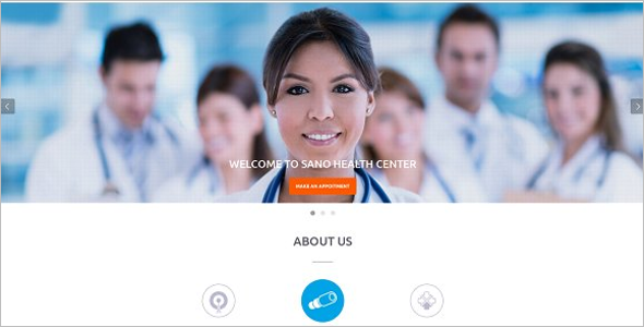 One Page Hospital WordPress Template
