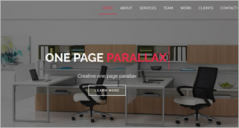 20+ One Page Parallax HTML Templates
