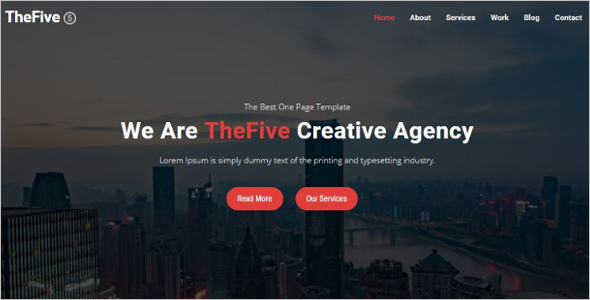 One Page Parallax HTML5 Template