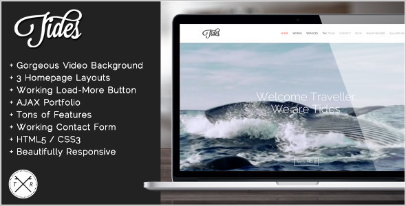 One Page Video Website Template