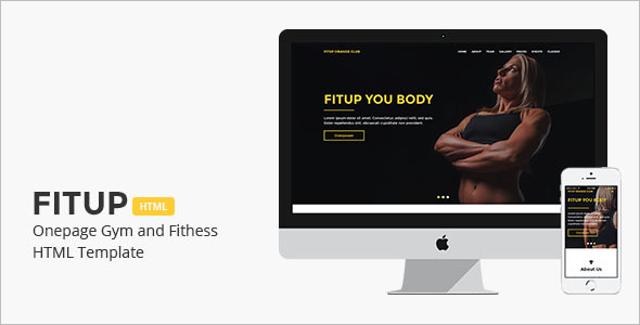 Onepage Gym and Fitness HTML Template