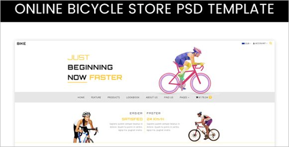 Online Bicycle Store PSD Template