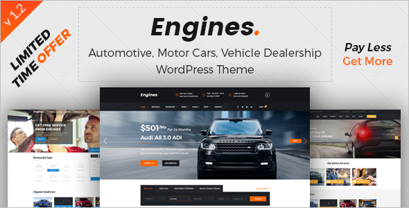 Online Car Dealer WordPress Theme