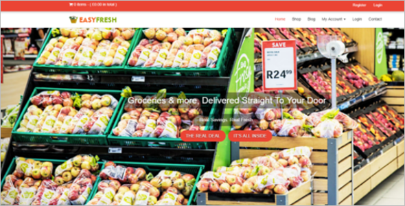 Online Grocery Shopping Website Template