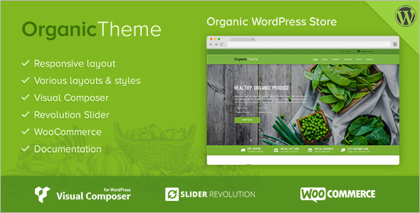 Organic Food Business Woocommerce Theme