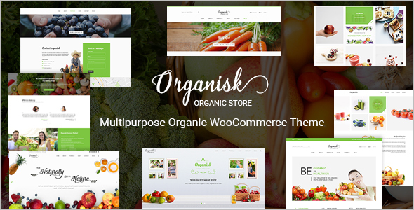 Organic Woo Commerce Theme
