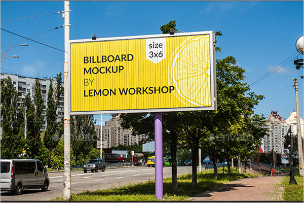 Outdoor Advertising Billboard Mockup Template