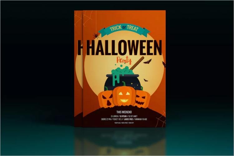PSD Halloween Poster Design
