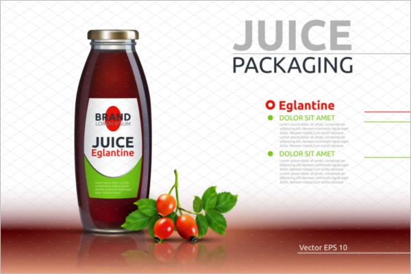 PSD Juice Bottle Mockup Design