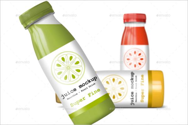 PackagingJuice Bottle Mockup