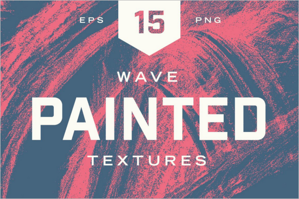 Painted Wave Texture Background