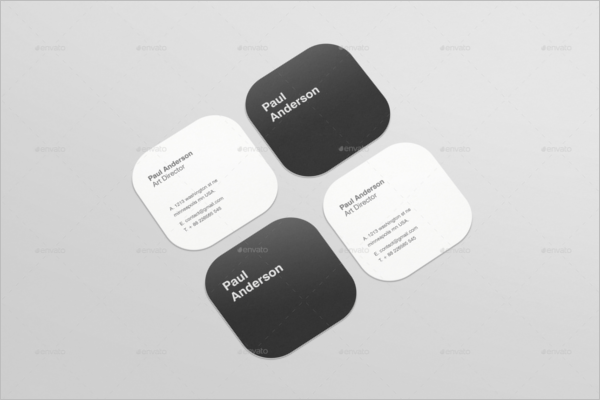 Paper Business Card Mockup Template