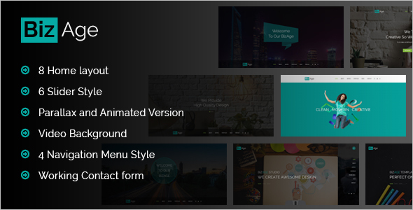 Parallax One Page HTML Template