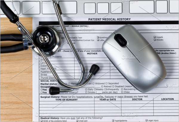 Patient Medical Form Word