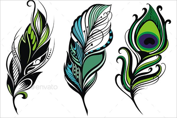 Peacock Feather Vector Design
