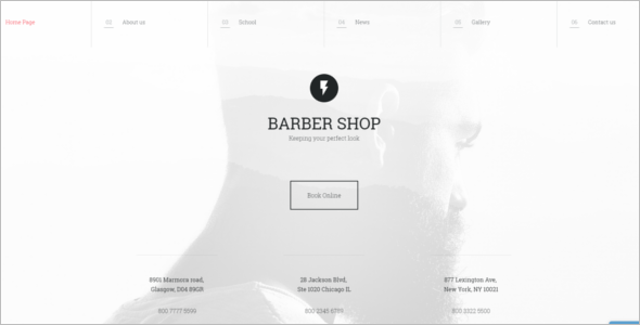 Perfect Hair Cut Salon Website Template