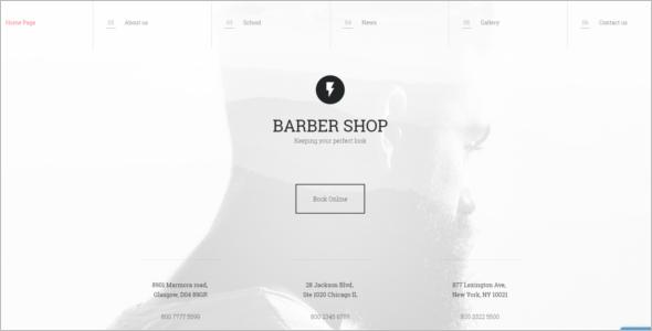 Perfect Hair Cut SalonWebsite Template