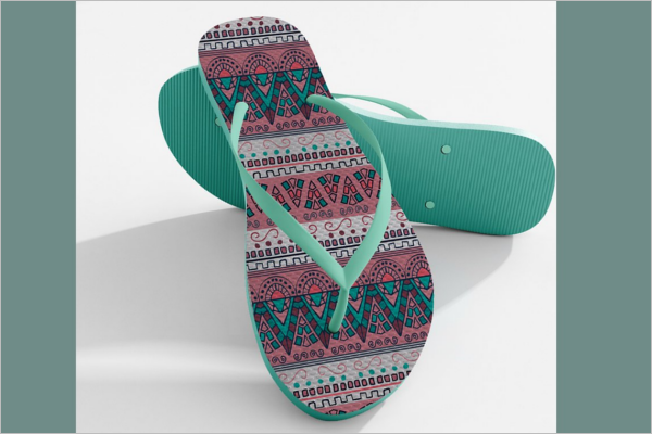 Photo Shop Sandals Mockup Design