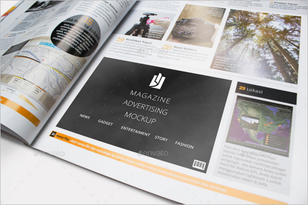 Photography Magazine Advertisement Mockup Design