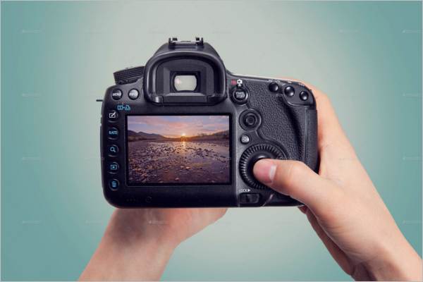 Photoshop Camera Mockup Design