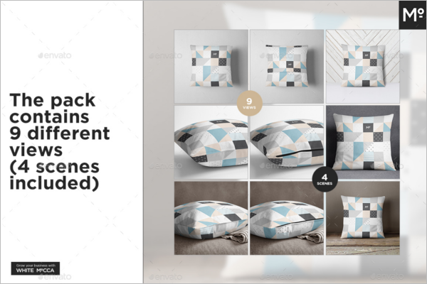 Pillow Cover Mockup Template