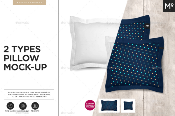 Pillow Mockup PSD Template