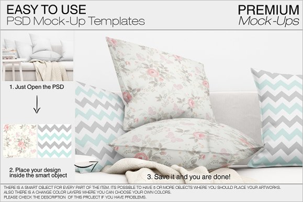 Pillow Mockup Template