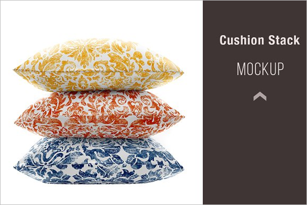 Pillow Stack Mockup Template