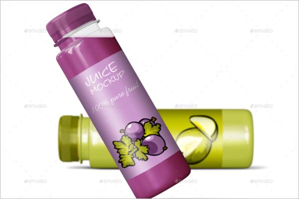 Plastic Juice Bottle Mockup