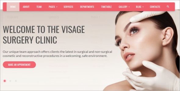 Plastic Surgery Clinic Website Template
